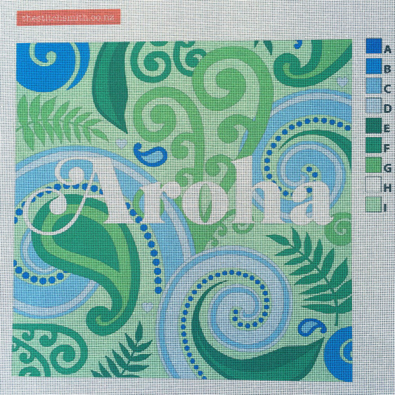 aroha needlepoint canvas