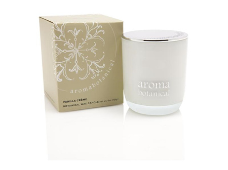 Aroma Botanical Wax Candle - Vanilla Creme