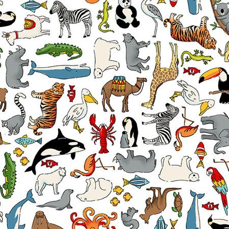 Around the World Animals White TP-2400-W