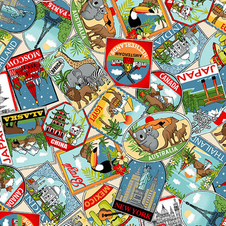 Around the World Labels Multi TP-2399-1