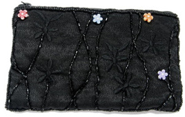 ARRIVING SOON Black Beaded Coin Purse