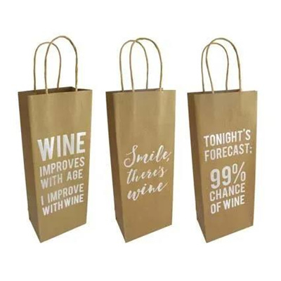 ARRIVING SOON Kraft Wine Gift Bag