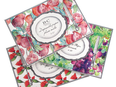 ARRIVING SOON Luxe Disposable Paper Placemats x 50