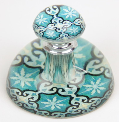 ARRIVING SOON Moroccan-Style Glass Perfume Bottle Paperweight: Blue
