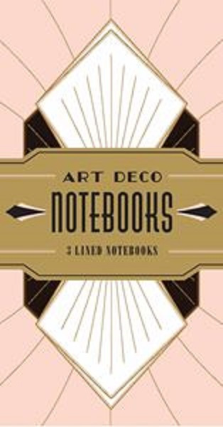 ARRIVING SOON Set of 3 Art Deco Notebooks