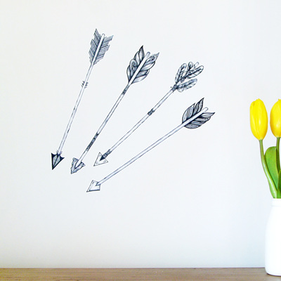 Arrows wall decal