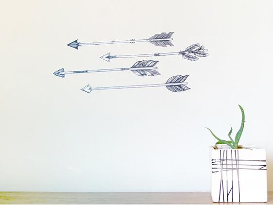 Arrow wall decals