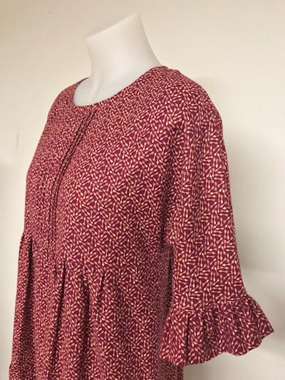 Arrows frill sleeve dress