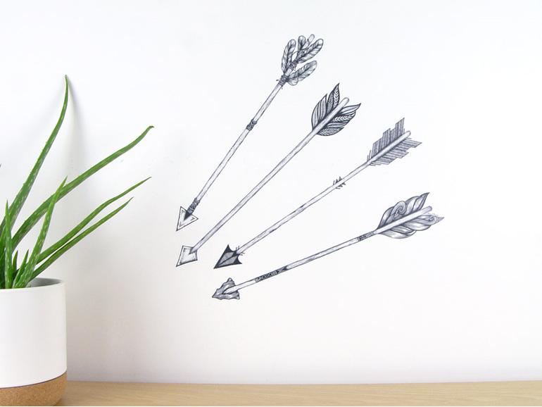 Arrows wall decal