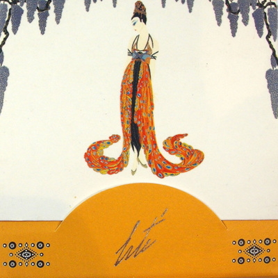 Art Deco Handbag Notes - Feather Gown by Erte