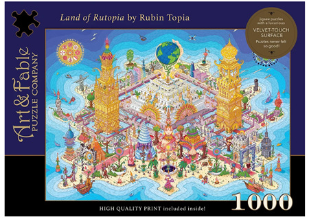 Art & Fable 1000 Piece Jigsaw Puzzle: Land of Rutopia