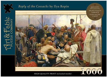 Art & Fable 1000 Piece Jigsaw Puzzle: Reply of the Cossacks