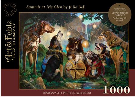 Art & Fable 1000 Piece Jigsaw Puzzle: Summit at Iris Glen