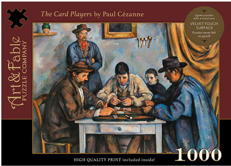 Art & Fable 1000 Piece Jigsaw Puzzle: The Card Players
