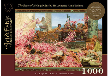 Art & Fable 1000 Piece Jigsaw Puzzle: The Roses Of Heliogabalus
