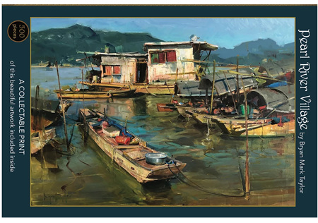 Art & Fable 500 Piece Jigsaw Puzzle: Pearl River Village