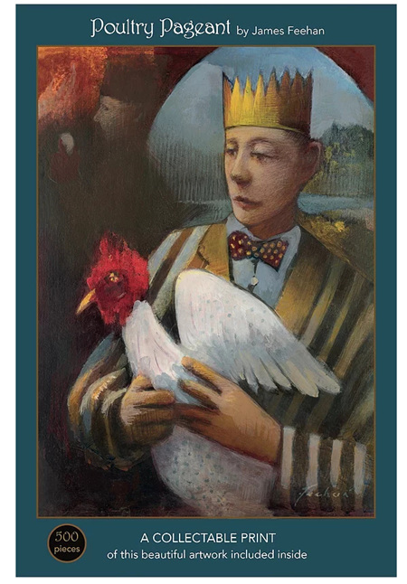 Art & Fable 500 Piece Jigsaw Puzzle: Poultry Pageant