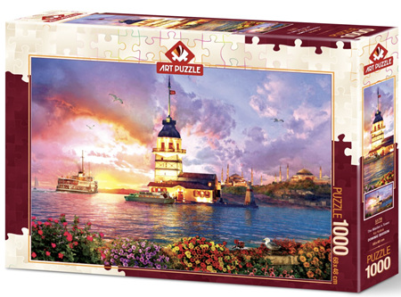 Art Puzzle 1000 Piece jigsaw Puzzle: Maiden's Tower