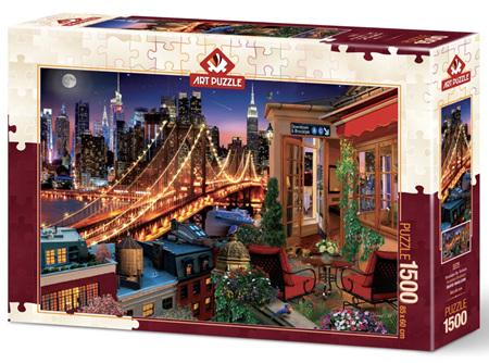 Art Puzzle 1000 Piece jigsaw Puzzle: Terrace Brooklyn