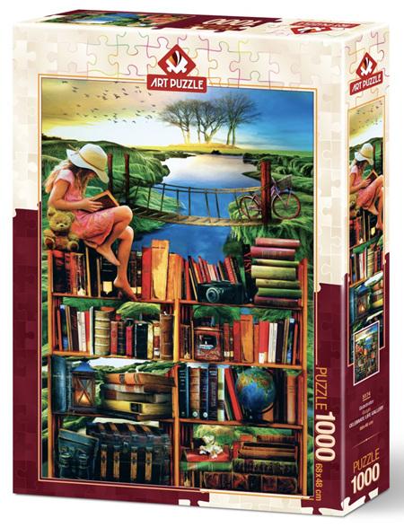 Art Puzzle 1000 Piece jigsaw Puzzle: The Traveller