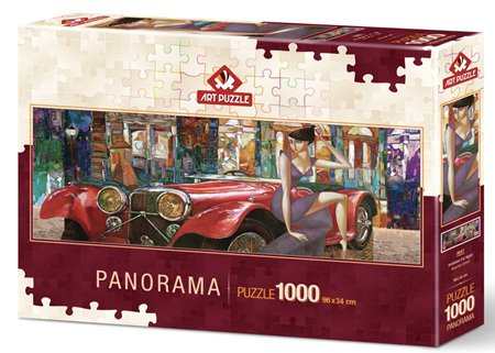 Art Puzzle 1000 Piece Panorama jigsaw Puzzle: An Invitation to Evening