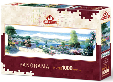 Art Puzzle 1000 Piece Panorama jigsaw Puzzle: Garden Terrace