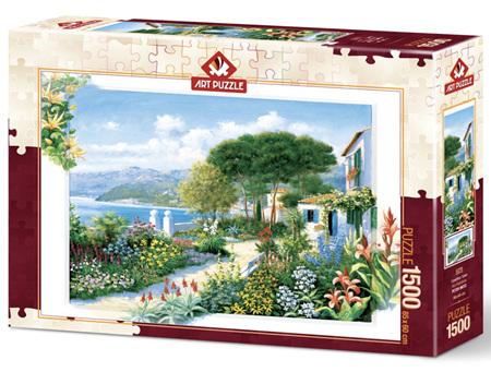 Art Puzzle 1500 Piece jigsaw Puzzle: Coastline Town