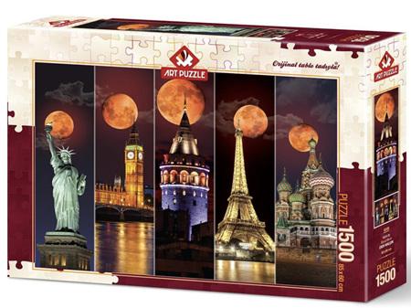 Art Puzzle 1500 Piece jigsaw Puzzle: Wonderful Moon