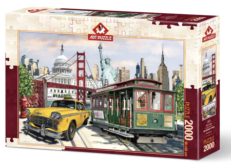 Art Puzzle 2000 Piece jigsaw Puzzle: Collage America