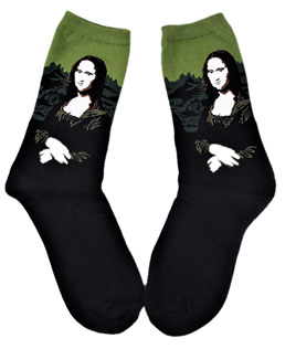 "Art Socks: ""The Mona Lisa"" by Leonardo da Vinci"