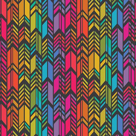Art Theory Rainbow Feather Night A-9701-C