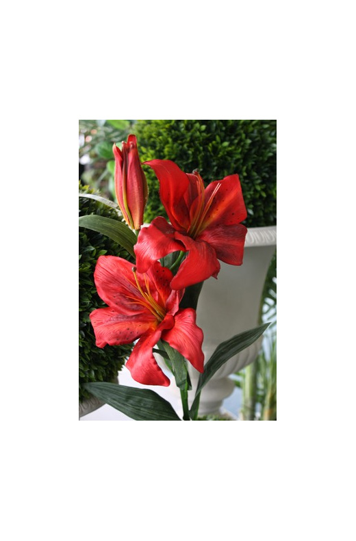 artificial silk fake false imitation paper flower asiatic tiger lily