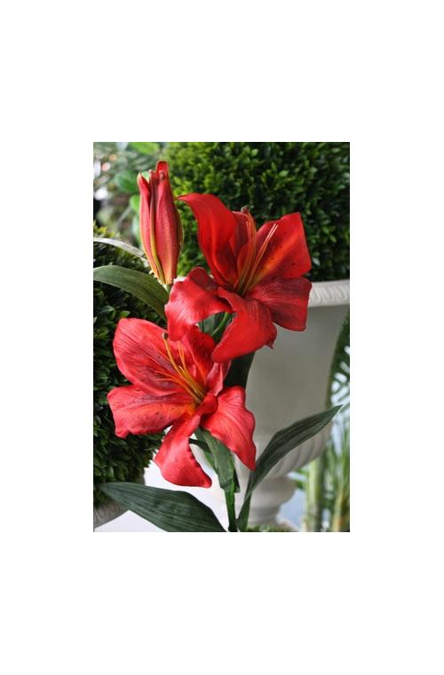 artificial silk fake false imitation paper flower asiatic tiger lily