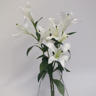 Lilies in Rocker glass vase 2111