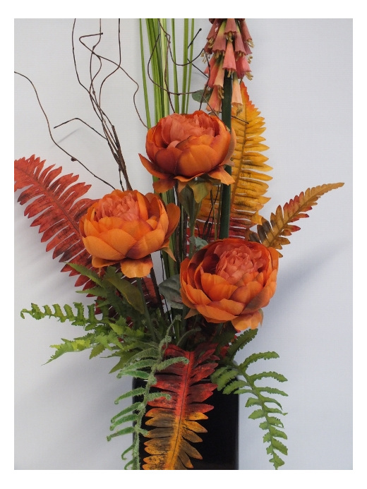 #artificialflowers #fakeflowers #decorflowers #fauxflowers#arrangement#orange