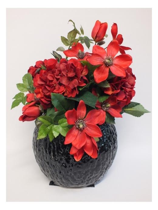 #artificialflowers #fakeflowers #decorflowers #fauxflowers#arrangement#red