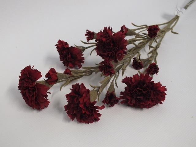 #artificialflowers #fakeflowers #decorflowers #fauxflowers#darkred#carnation#sil