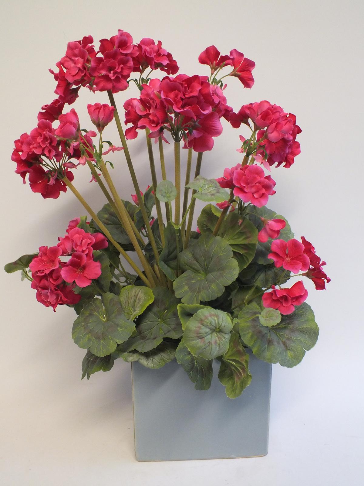 Geranium potted 2101 3 grannys favourite the silk flower company mightylinksfo