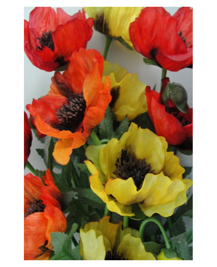Poppy spray flanders 1962 the silk flower company artificialflowers fakeflowers decorflowers fauxflowerspoppy mightylinksfo