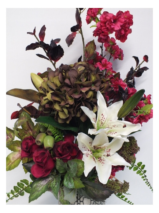 #artificialflowers#fakeflowers#decorflowers#fauxflowers#silkflowers#burgundy#gre