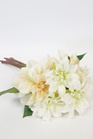 Chrysanthemum Bouquet White Peach 4367