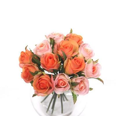 Rose Bud Posy Peachy Pink 4370