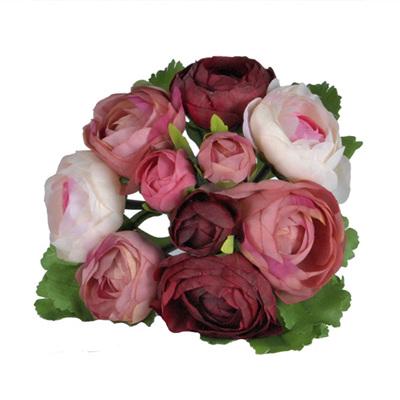 Ranunculus Posy 4484 Pink Burgundy
