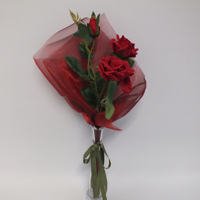 Three Roses in a vase 2044