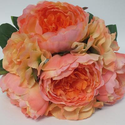 Peony and Hydrangea Posy peach 4239