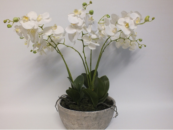 #artificialflowers#fakeflowers#decorflowers#fauxflowers#orchids#white#stone#cont