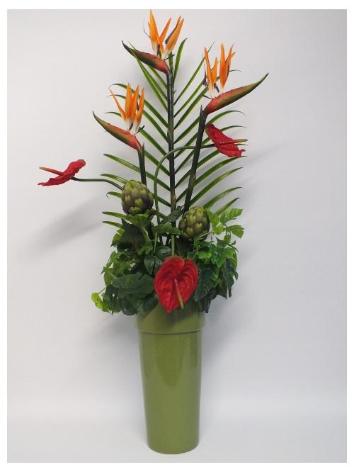 #artificialflowers#fakeflowers#decorflowers#fauxflowers#orange#red#arrangement