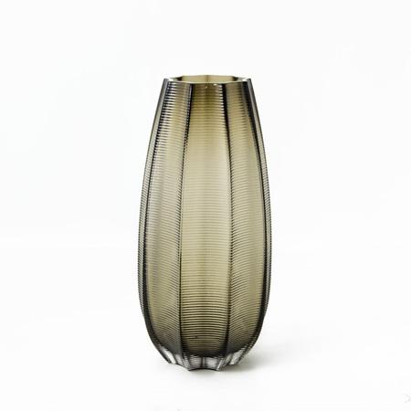 Artisanal Coloured Glass Vase -  Champagne