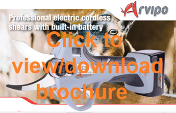 Arvipo PS32 Hoof electric pruning shears - download pdf