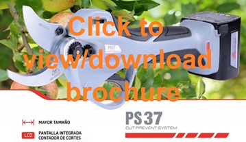 Arvipo PS37 cordless electric pruning shears - download pdf